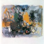 Stilleben mit gelbem Stiefel, Kunstharz auf Leinwand, 1980, 95 x 80cm, Privatbesitz