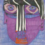 Selbstbildnis, Jester, 1964/65 Filzstift auf Papier 37.5 x 27.8 cm Sammlung Suzanne Baumann, Marfeldingen