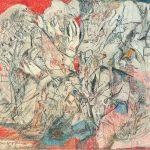 Mein Kopfkissen, 1970 Mischtechnik auf Papier 27 x 37 cm Sammlung Suzanne Baumann, Marfeldingen