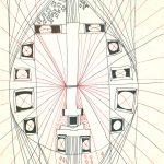 Glassaal mit weissen Augen. 1964 Filzstift auf Papier 38 x 31 cm