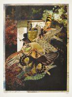 Ohne Titel (aus der Serie «Bestiarium III»), 2013, Mischtechnik auf Papier, 50 x 40 cm