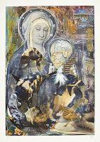 Ohne Titel (aus der Serie «Bestiarium VVIII»), 2014, Mischtechnik auf Papier, 30.6 x 24.6 cm
